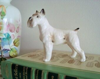 Vintage Bone China Schnauzer Dog Figurine