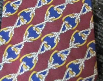 Burberry tie, vintage, 1980's, tie, necktie, neck tie, patterned, retro, hipster,
