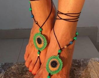 Barefoot sandals crochet
