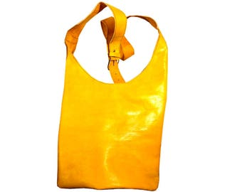 Mustard Hobo leather Handbag