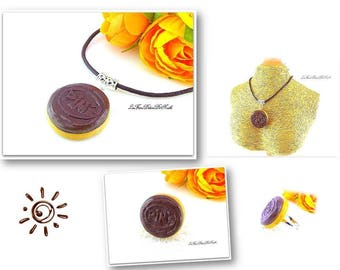 Finery necklace and rings biscuits chocolate-brown softness PIMS