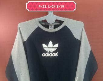 Vintage Adidas Sweatshirt Logo Printed Front Shirts Black Gray Cross Colour Nike Sweatshirts Polo Sweatshirts Sportwear 3 Stripes