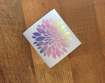4x4 Flower vinyl decal