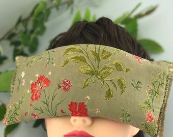 Eye Pillow - Tan Floral