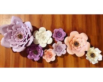 Set of 8 flowers