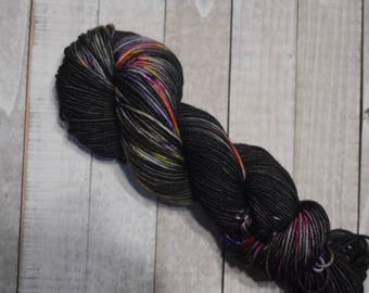 Hand-dyed, worsted weight yarn, 100% SW merino wool, 218yds, colorway *Hollowland*