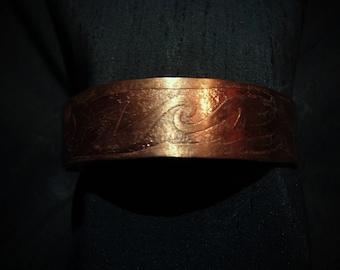 Copper cuff bracelet,(SB43)