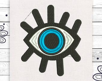 Eye embroidery Blue eye Discount 10% Machine embroidery design 4 sizes INSTANT DOWNLOAD EE5041