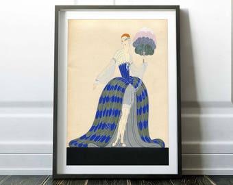 Art nouveau print / Erte print / Vintage Erte poster / Art nouveau poster / Art deco print / Home decor / Art deco poster / Erte poster