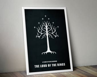 The Lord Of The Rings Return Of The King Minimalist Print - LOTR Poster Print, LOTR Wall Art, Minimalist Art Print, Lord Of The Rings Poster