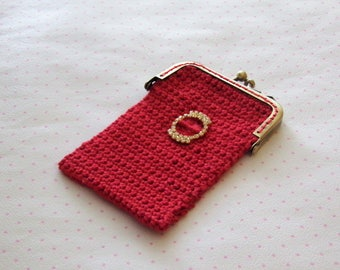 Multi functional red purse