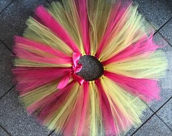 Baby Girl Tutu - Pink and Yellow - Girl Tutu - Customize Tutu