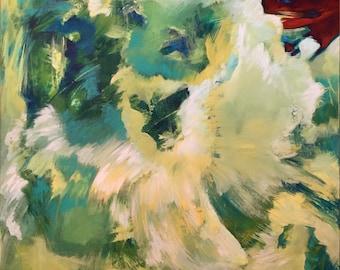 Ternion I, acrylic abstract painting