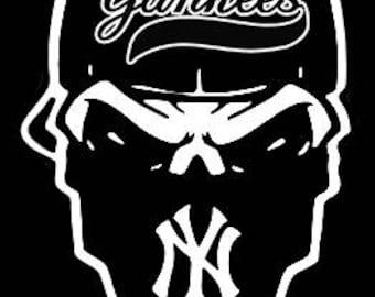 NY Yankees Skull
