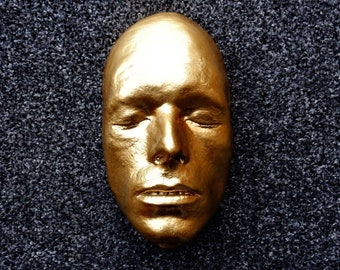 Life Face Cast Of David Bowie In Gold