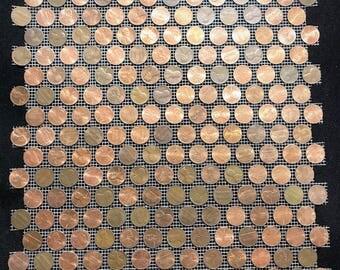"Tile Sheets of US Copper Pennies. Actual Penny Tiles (12""x11.5"") - Random"