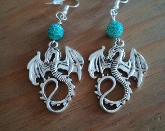 Dragon earrings.