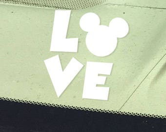 Mickey Inspired LOVE Car Decal