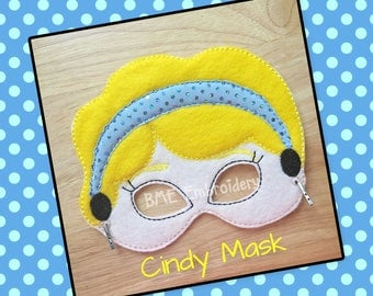 Cinderella Mask-CIndy Inspired-Dress Up/Imaginary Play-Halloween Mask-Pretend Play-Photo Prop-Birthday Party Favor-Theme Party-Child's Gift