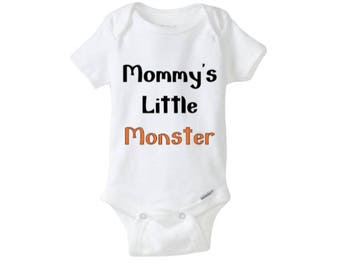 Mommy's Little Monster Baby Halloween Bodysuit, Baby Clothing, Funny Baby Clothing, Funny Halloween Baby Costume, Halloween Baby Clothing