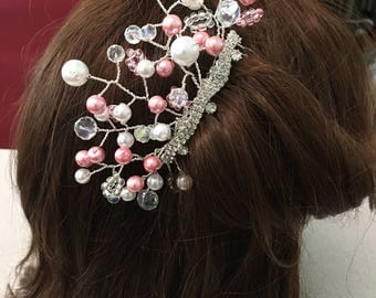 Beaded Bridal or Special Occasion hair comb
