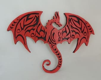 Dragon Heroic Fantasy red and black