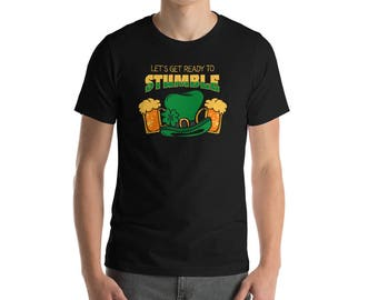 Funny Let's Get Ready To Stumble T-Shirt, Funny St Patricks Day Shirt, St Paddy's Day Drinking Tee, St Patrick's Day