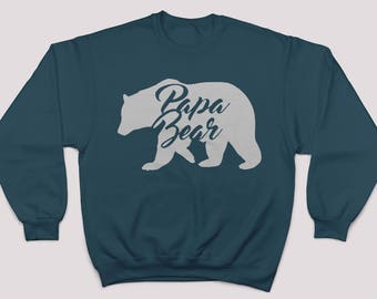 Papa Bear Sweater. Papa Bear Sweatshirt. Papa Bear Shirt.