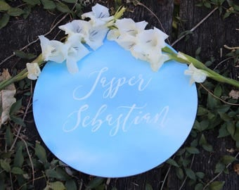 Custom Baby Name Circular Sign