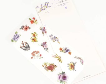 Pretty Flowers Sticker, Decoration, Planner, Scrapbooking, Journal Stickers, Colourful Flower Sticker