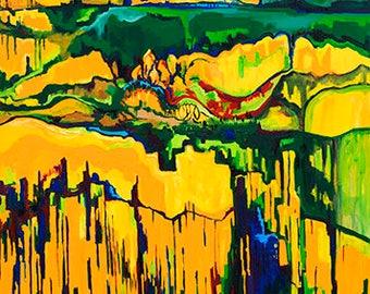 Infinitude - Print from original painting,  Print, Canvas, Color painting, Modern, Decor, ArtWork, Original painting