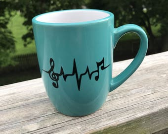 Music Heartbeat Mug