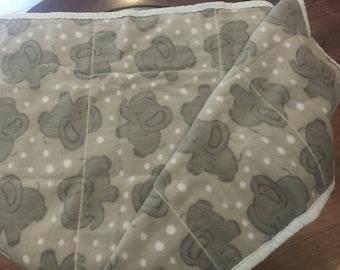 Sweet Elephant Baby Blanket