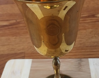 Vintage India made brass goblet/chalice