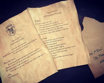 Harry Potter Letter to Hogwarts