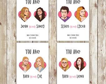 Supergirl, Supercorp, Teen Wolf, Gypsy, Stiles Lydia, Valentines Day,  Valentines