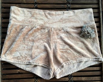 SALE small/medium bamboo velour booty shorts