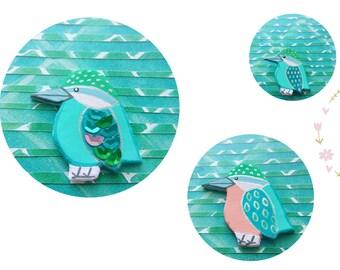 Brooch Kingfisher, bird brooch, brooch pin