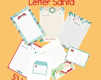 Original official letter to santa kit set of 4 cards red letter to santa kit set with envelope template santa claus christmas instant download spiritdancerdesigns Image collections