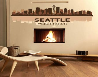 Seattle Wall Art seattle wall decal | etsy