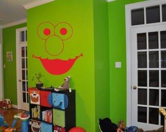 Elmo wall decal | Etsy