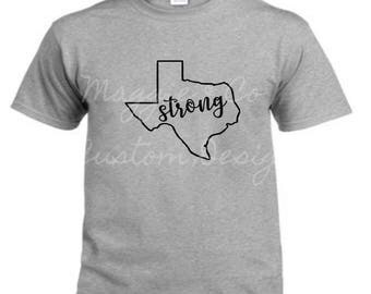 Women's Texas Strong Shirt, Texas, Hurricane Harvey Relief