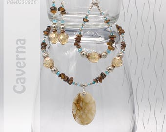 Jewelry Set | Necklace, Bracelet, Earrings | Caverna PG40230826