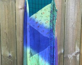 dip dye patterned dress