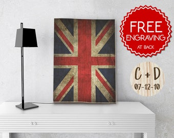 Union Jack Flag on Wood,Personalized Wooden Photo , Image Transfer, Wall hanging gifts,Keepsake,Handmade gift, gift for him, English man