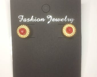 Vintage Imitation Gem Handmade Earrings