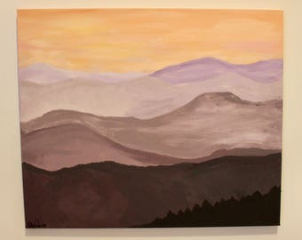 Medium sized acrylic landscape painting