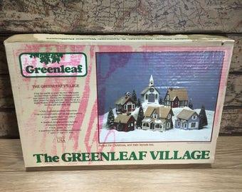 The Greenleaf Village-Christmas Town-Model Train Layout #8016-UNUSED-1983