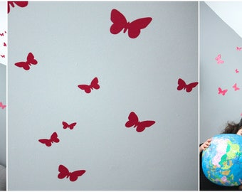 Butterfly vinyl stickers to dress up your walls