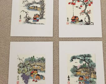 Original Japanese handpainted watercolors